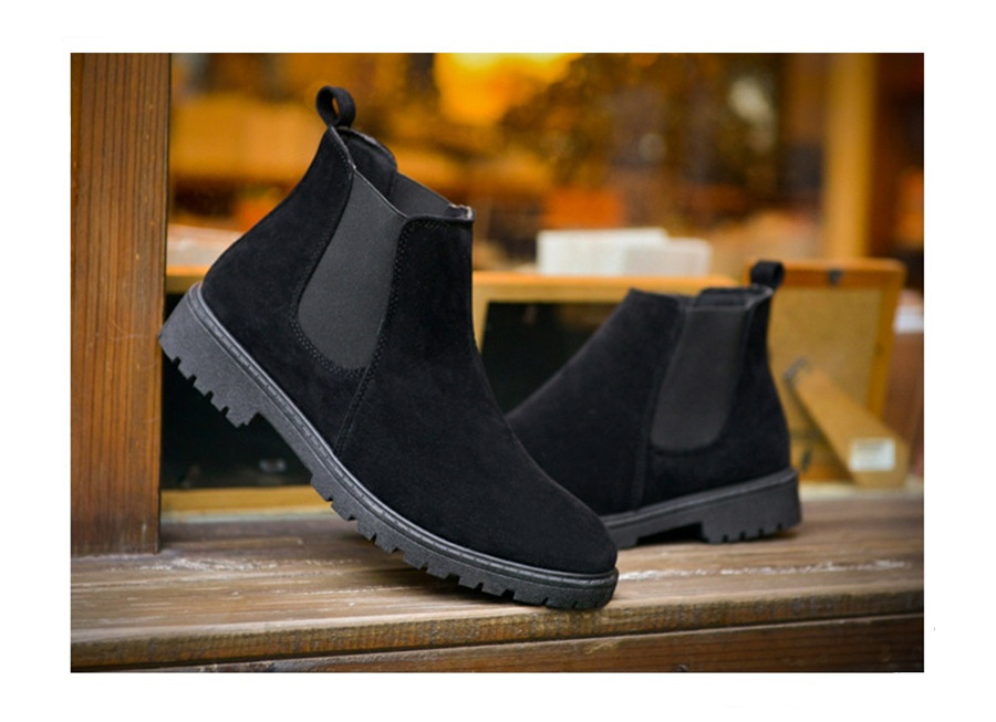 PINSV Chelsea Boots Men Shoes Ankle Boots Men Cow Suede Leather Boots For Men Trendy Autumn Shoes Bota Masculina 13