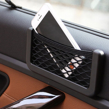 Car styling Net Organizer Pockets Seat Side Back Storage Stickers Bag Phone Holder For Honda Civic Accord CRV Renault Peugeot