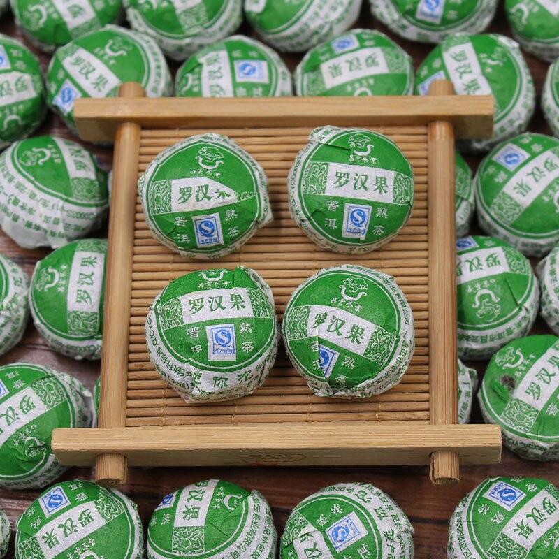 Momordica grosvenori Shu Puer Tea Xiao Tuo Mini Ripe Pu'er Chinese Puerh Slimming Tea Weight loss