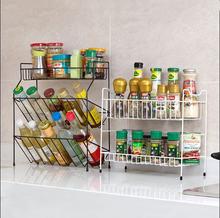 Железный художественный кухонный органайзер 3 уровневый инструмент