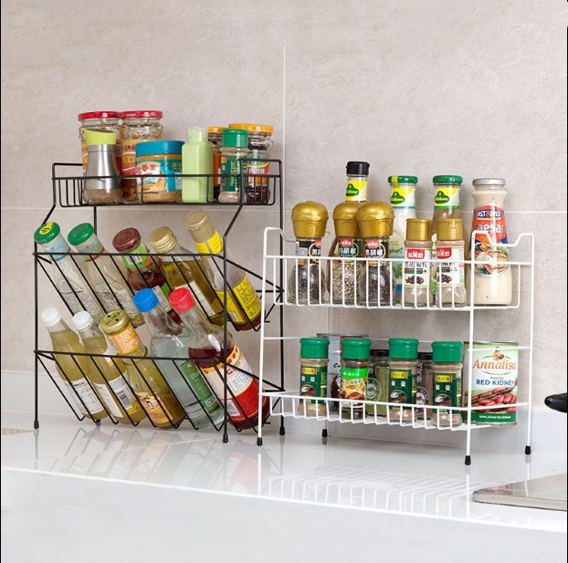 Iron Art kitchen organizer 3 layers kitchen tool Cookware storage rack plate kitchen organizer Dish Holder bowl Tea set rack image