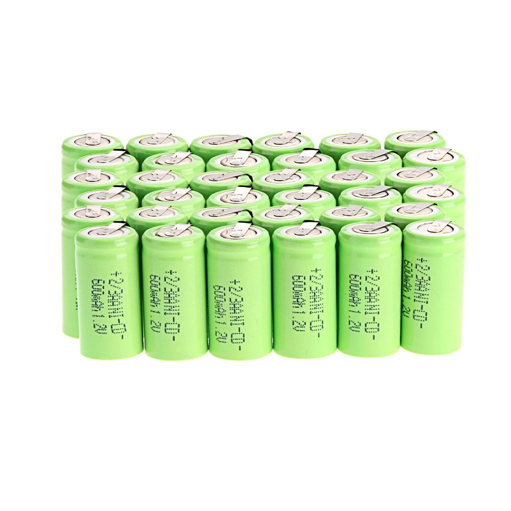 48pcs/lot 2/3AA Rechargeable <font><b>Battery</b></font> <font><b>1.2V</b></font> 600mAh NI-CD <font><b>Battery</b></font> <font><b>1.2V</b></font> NICD <font><b>Batteries</b></font> image