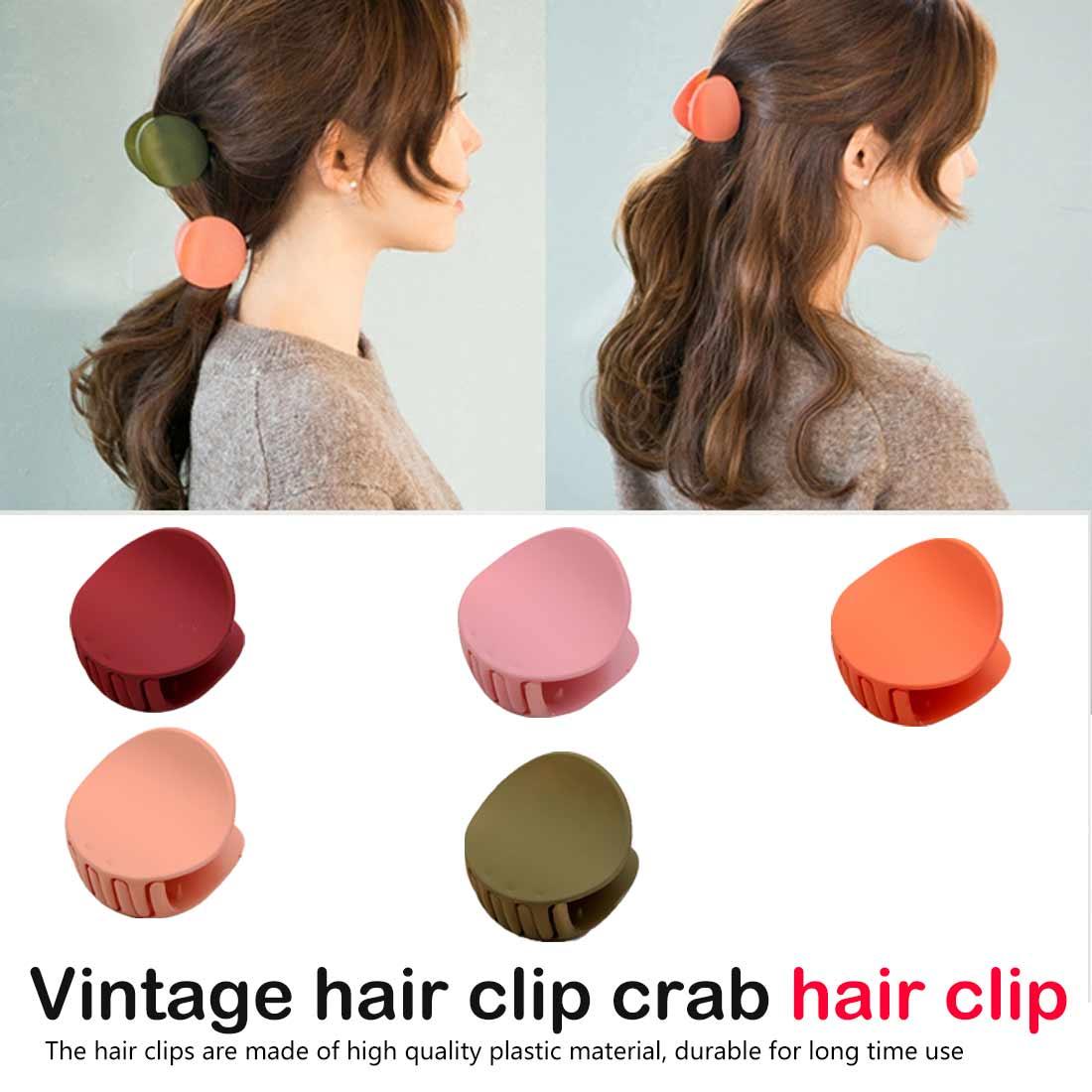 Women Girls Hair Claws Acrylic Hair Clips Barrette Crab Clamp Scrub Hairpins New