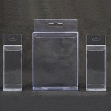 30pcs/lot 30 Sizes PVC Clear Plastic Packaging Boxes with Hanging Hole Crafts Gift Display Transparent Package Boxes 7/30(China)