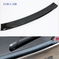 FIT FOR Toyota CHR C HR 2017 2018 ABS Car Accessory Rear Trunk Lid Spoiler Trim