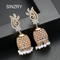 SINZRY Vintage Ethnic Handwork Birdcage Jhumka Jhumki Earrings Trendy Jewelry for Women immitation Pearl tassel Dangle Earring