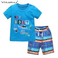 2016 New Kids Clothes Set Summer Boys Girls Clothing Sets Children T Shirt Short Pants Sport