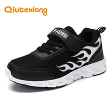 QIUTEXIONG Spring Autumn Kids Shoes For Boys Sneakers Children Shoes Breathable MD Anti-Slip Boys Casual Shoes School Sport Run