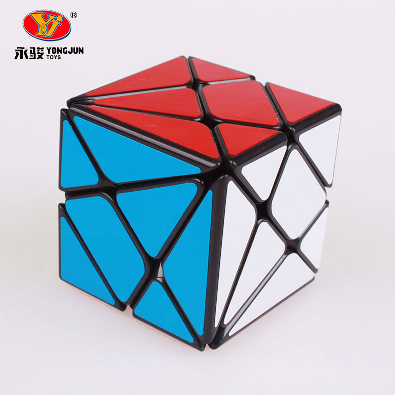 YongJun YJ Axis 3x3x3 Magic Speed ​​Cube Endre Uregelmessig Jinggang Professional Puzzle Stiker Cubo Magico Leker For Barn Barn