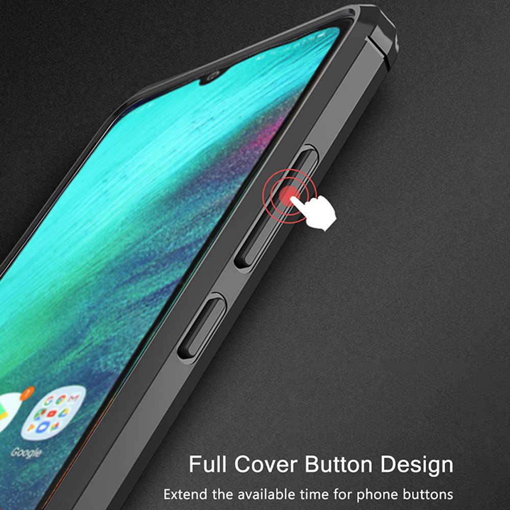 Для samsung Galaxy A40 A50 a60 A70 A20S чехол накладка из углеродного волокна ударопрочный чехол для телефона A20 A30 A20S крышка полный защитный бампер