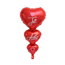 String of Baloon Big Te amo and Happy Day Balloons Party Decoration Heart Engagement Anniversary Weddings Valentine Balloons