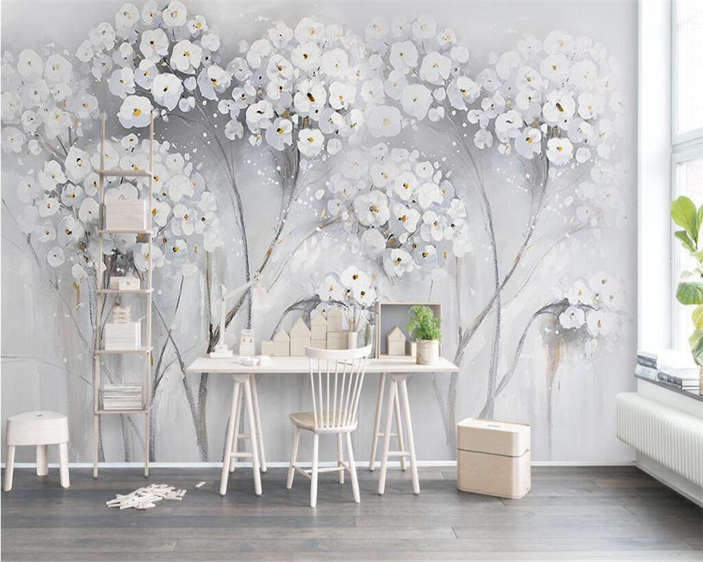 Beibehang Custom Wallpaper Elegant Aesthetic Painting
