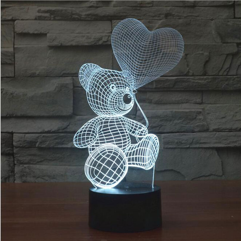 Buy 3d Mood Lamp Animal Cute Teddy Bear