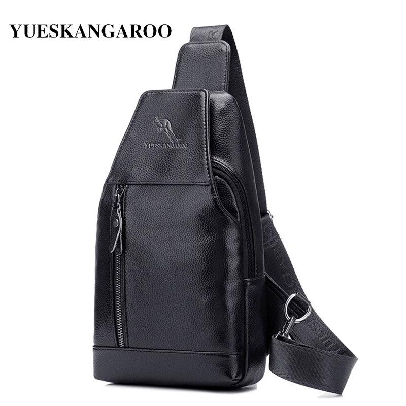 YUES KANGAROO Berömda Märke Läder Män Bröstväskor Mode Resa - Handväskor