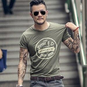 Image 3 - Nam mùa hè Phố Mới Xu Hướng In Nữ Tay Ngắn Chữ Retro Áo Thun T shirt nam Cổ Tròn Thời Trang, Thời Trang Mỏng Áo Thun t380