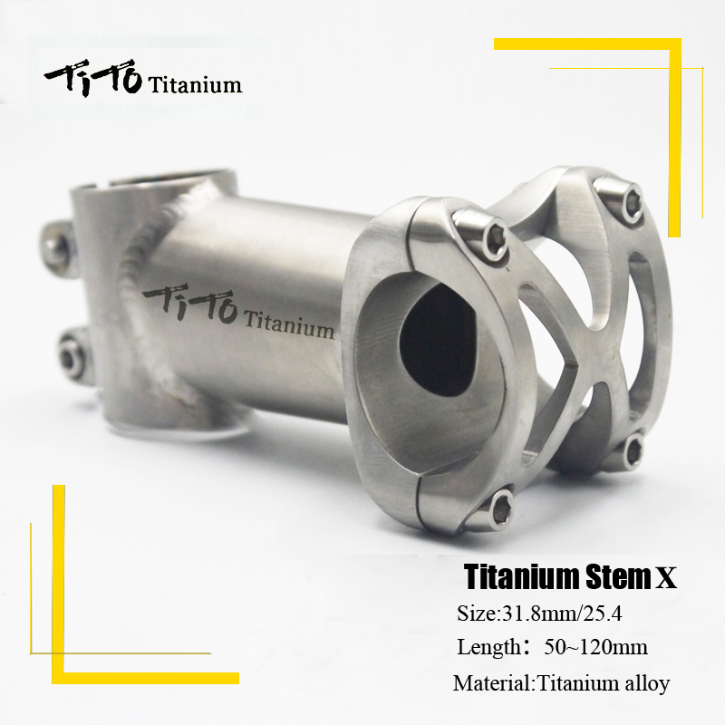 TiTo titanium Bicycle Stem MTB Bike Stem mountain Road handlebar Bike Stem 25.4mm/31.8mm x Length 50/60/70/80/90/100/110/120mm aluminum carbon fiber bicycle stem road mountain bike stem mtb 6 17 degree 31 8 60 70 80 90 100 110 120mm bicicleta parts