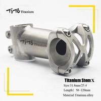 TiTo titanium Bicycle Stem MTB Bike Stem mountain Road handlebar Bike Stem 25.4mm/31.8mm x Length 50/60/70/80/90/100/110/120mm