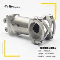 TiTo titanium Bicycle Stem MTB Bike Stem mountain Road handlebar Bike Stem 25.4mm/31.8mm x Length 50/60/70/80/90/100/110/120mm