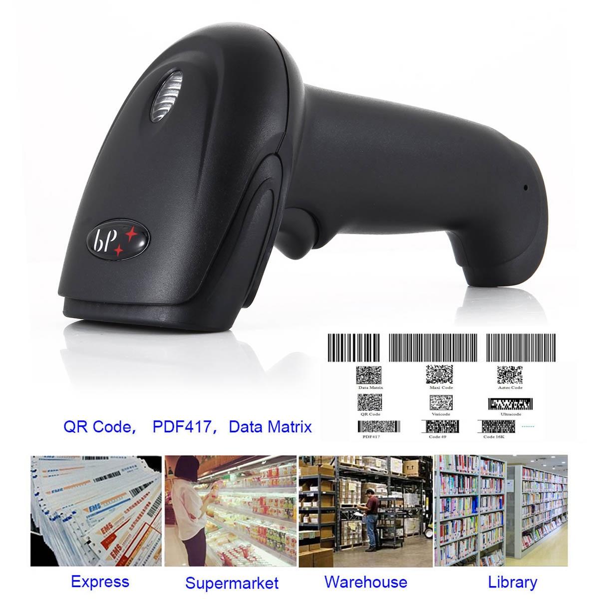 Универсальный Беспроводной сканер штрих Long Range ручной USB Проводная Перезаряжаемые супермаркет беспроводные Express Reader SL @ 88