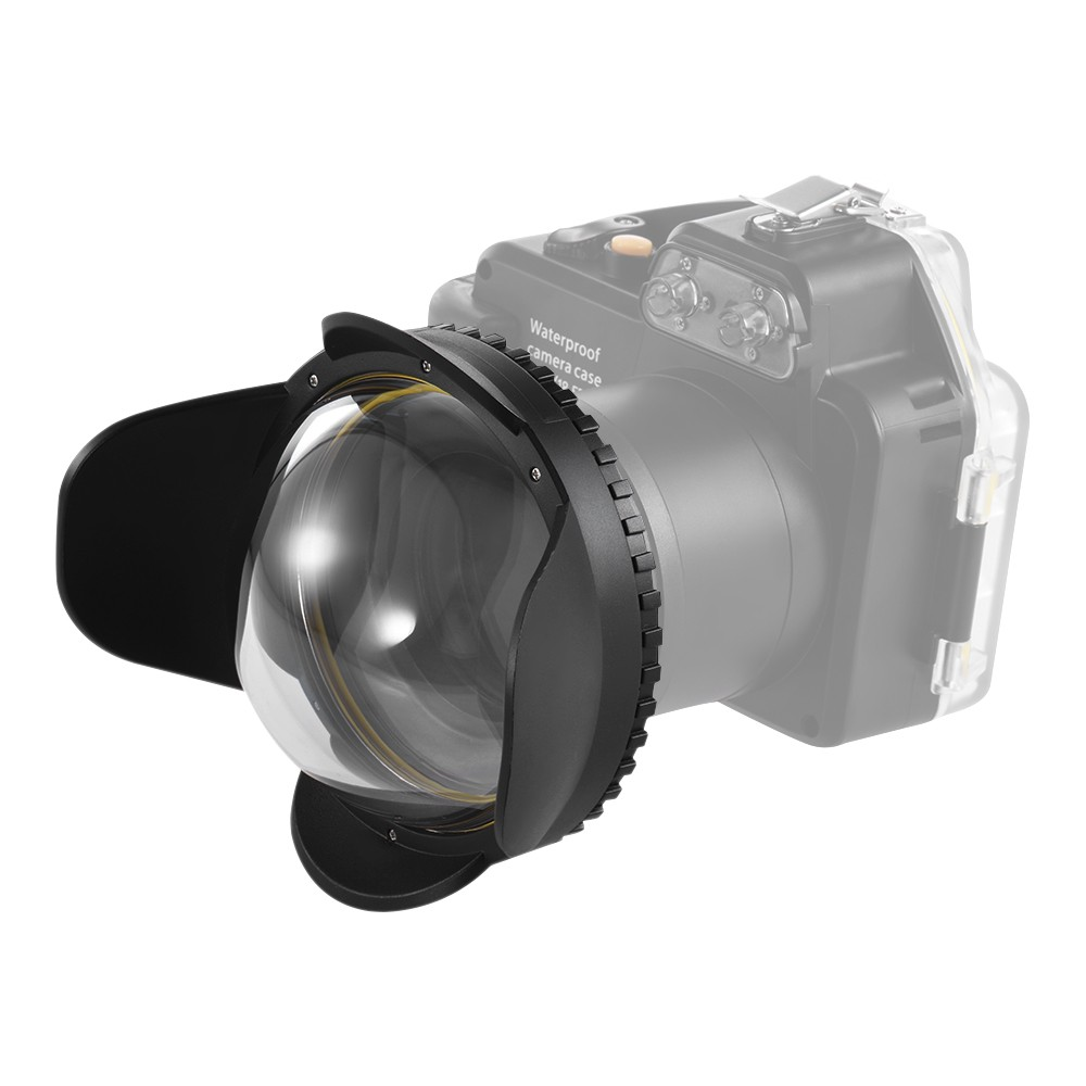 MEIKON 67mm Fisheye Wide Angle Lens Dome Port Shade Cover for Camera Diving Housing (Round) 67mm digital camera lens cover