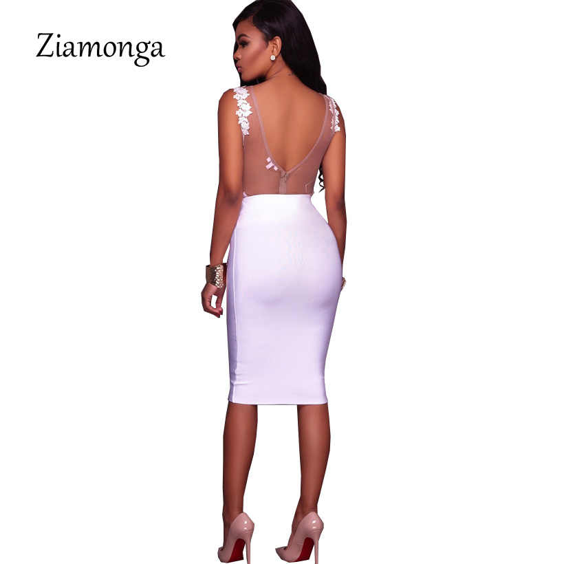 Ziamonga S-XXL Körper Spitze Sommer Overall Bodycon Ärmellose Sexy Body Feminino 2018 Neue Frauen Strampler Aushöhlen Overalls