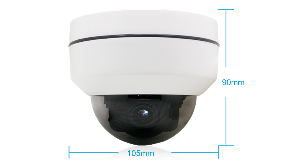 19201080 2MP WiFi PTZ Camera 4XZoom Auto High Resolution Waterproof Wireless  Infrared 1080P IP Dome Camera CamHi APP Indoor 3