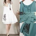 Wholesale hot selling  Sling Linen Maternity Dress Comfortable Clothes  Summer Tank  for Pregnancy Vintage Shirt  k-059