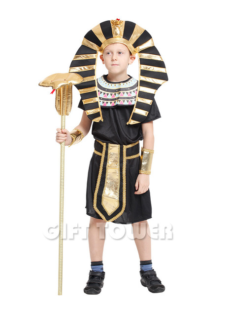 halloween costume kids fantasia fancy party dress children carnival cosplay pharaoh clothing boys egyptian king tut - Egyptian Halloween Costumes For Kids