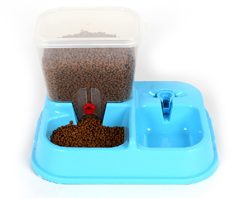 ФОТО 2in1 automatic dog food dispenser Pet automatic feeding+Drinking fountains with double bowl controlled appetite pet bowl