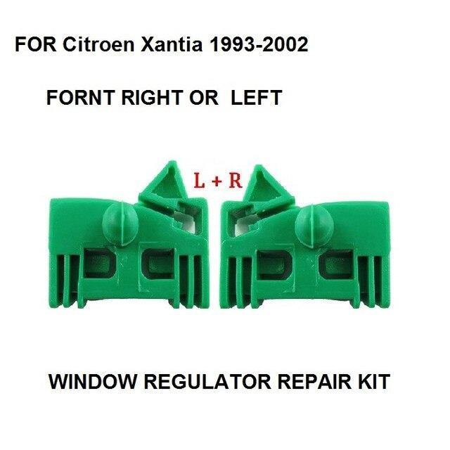 Para Citroen Xantia 2002-1993 Kit de Clip de reparación de regulador de ventana frontal izquierda o derecha 2 unidades