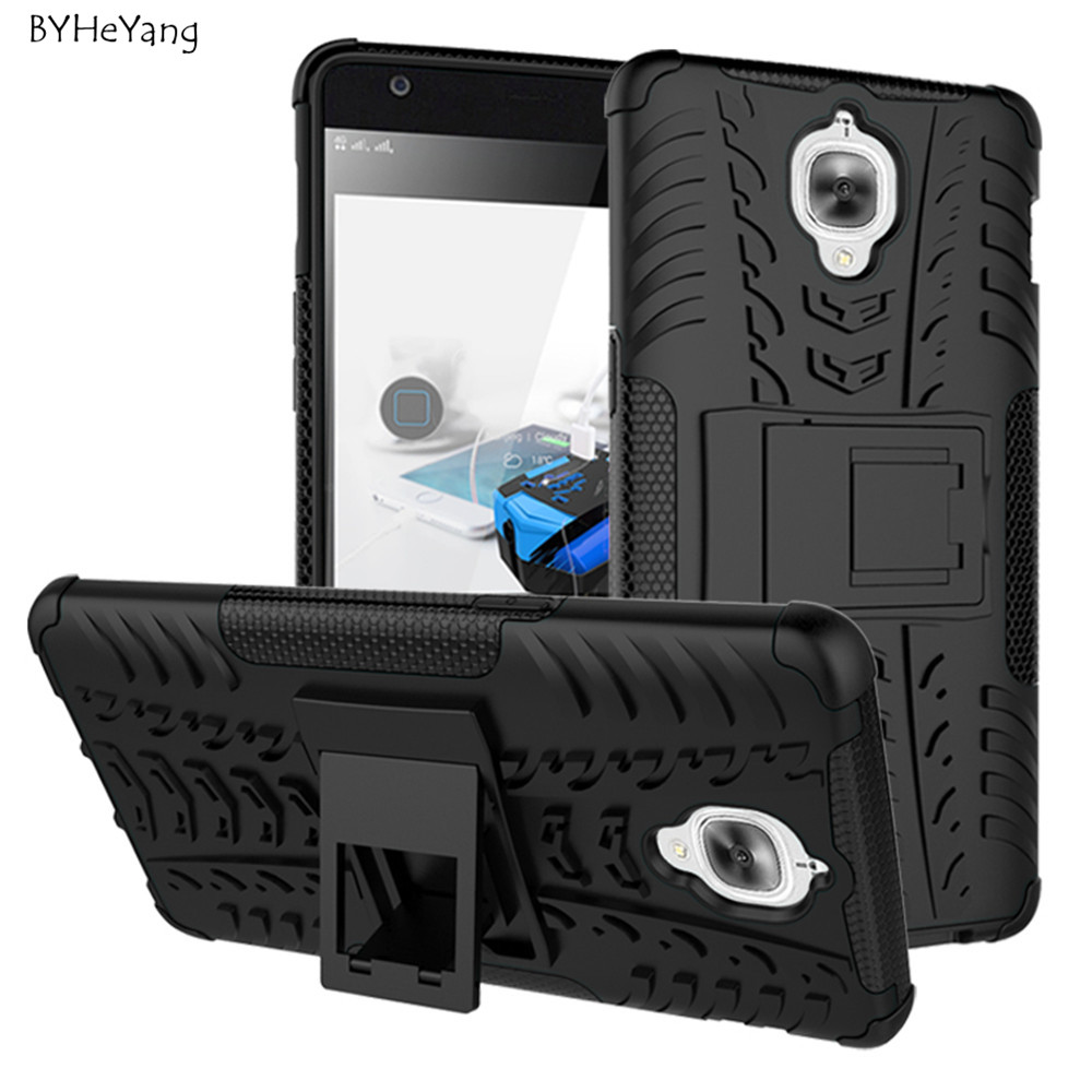 OnePlus Three Case Oneplus 3 TPU & PC Dual Armor Cover Hard Silicone Armor Cover Anti-Knock Combo Back Case For Oneplus 3T Cover