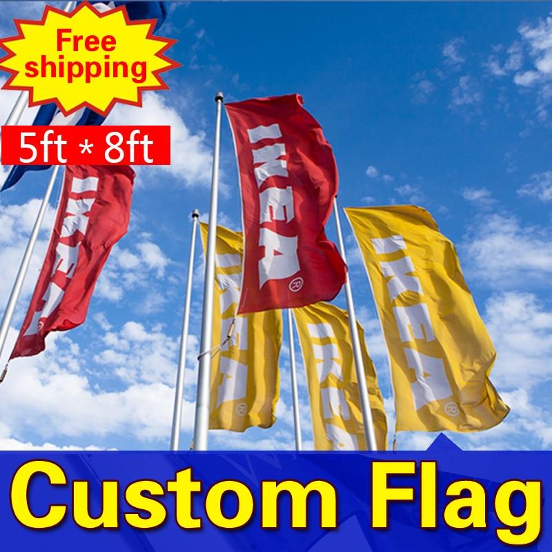 8ft * 5ft Freeshipping bendera kustom, Satu sisi bendera, Berbagai - Dekorasi rumah - Foto 1