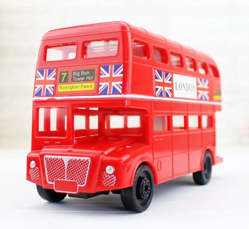 Hot Sale British Double Decker Bus Piggy Bank Children 's