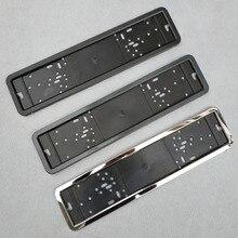 1 шт., рамка для номерного знака автомобиля, металлическая и пластиковая рамка, рамка для номерного знака автомобиля, держатель номерного знака, подходит для ЕС