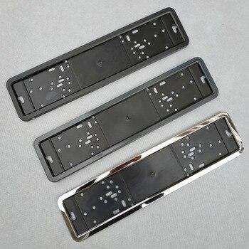 1 sztuk ramka na tablicę rejestracyjną samochodu metalu i rama z tworzywa ramka na tablicę rejestracyjną samochodu uchwyt tablicy rejestracyjnej pasuje do ue