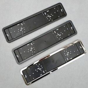 Image 1 - 1pcs Car License Plate Frame metal and Plastic frame Car License Plate Frame Number plate Holder Fit EU