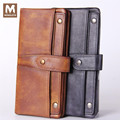 MONOLETH 100% top quality Genuine Leather wallet men long Wallets Clutch bag Purse Cowhide Man Day Clutches Bag W2010