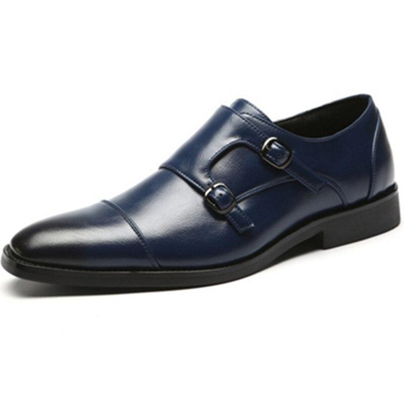 6dce6231 Comprar Marca de lujo clásico hombre punta zapatos para hombre negro charol zapatos  de boda Oxford zapatos formales tamaño grande moda Online Baratos.