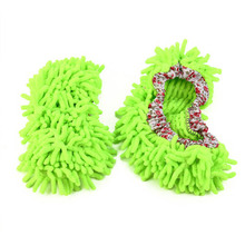 2 Pcs Microfiber Floor Cleaning Mop Slippers House Cleaner Dust Foot Shoes Cover Slipper Home Tools