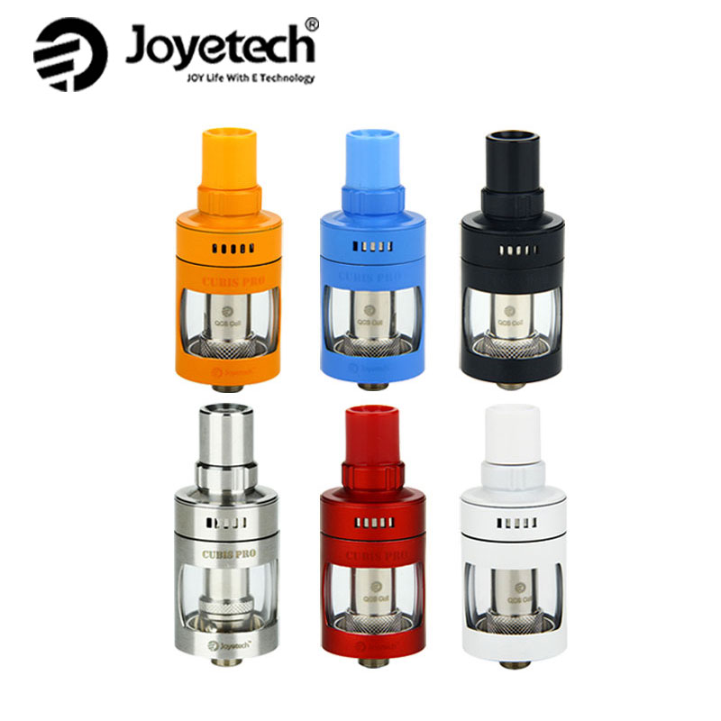 Оригинален Joyetech Cubis Pro Атомизатор Резервоар 4ml Подходящ NotchCoil DL / BF Котушка / BF RBA / QCS / LVC Клептън MTL Броня Глава Vape Танк срещу Melo 4