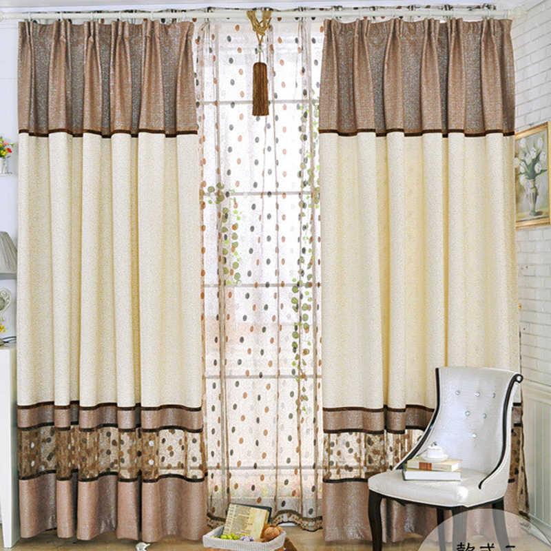 Роскошные современные шторы из синели, сшитые Птичье гнездо, для спальни, гостиной, кофе, французские оконные шторы, WP221C
