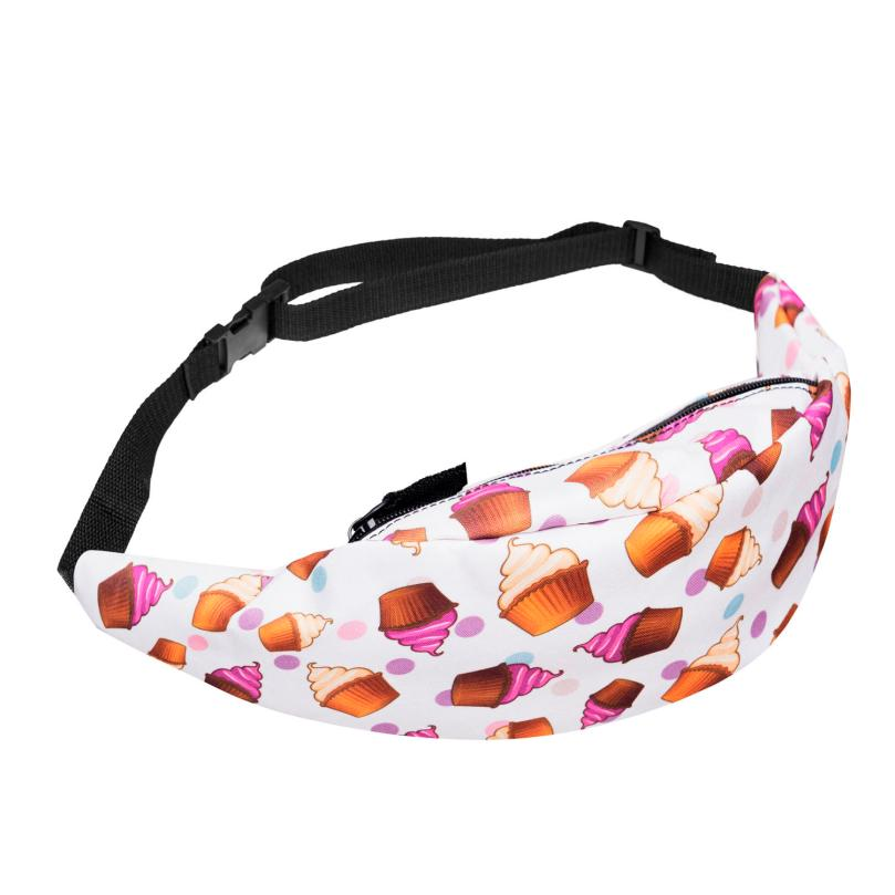 MOLAVE Waist Packs high quality Fashion Sports Hiking Running Belt Waist Bag Pouch Zip Print Fanny waist packs small AP16