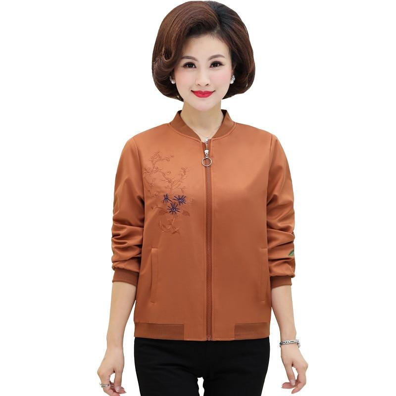 New Spring Women's Casual   Jacket   2019 Autumn   Basic     Jacket   for Women Embroidery Elegant   Jackets   Loose Coats Feminina 4XL 5XL R85