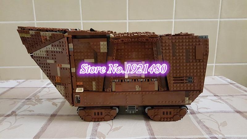 05038 3346Pcs Star Wars Force Awakens Sandcrawler Model Building Kit minis Blocks Brick Compatible 75059 toy for children