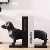 Modern minimalist decor Furnishing resin crafts soft living room TV cabinet Pug decoration Home