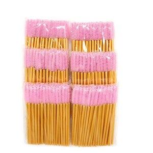 Image 5 - 1000 stücke Einweg Mascara Wands Applikator Groß Wimpern Verlängerung Pinsel Augenbraue Pinsel Make up Tools für Frauen Zubehör