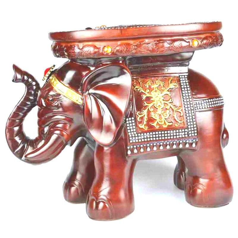 Nouvelle résine éléphant changement chaussure dessin animé enfants tabouret sculpture Fine artisanat ornements bureau décorations pour la maison en bois tabouret
