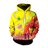 Plus Size Comic Hoodies Ricky And Morty Hoodies Men Women Anime Sweatshirts Fashion Spring 3D Pullover