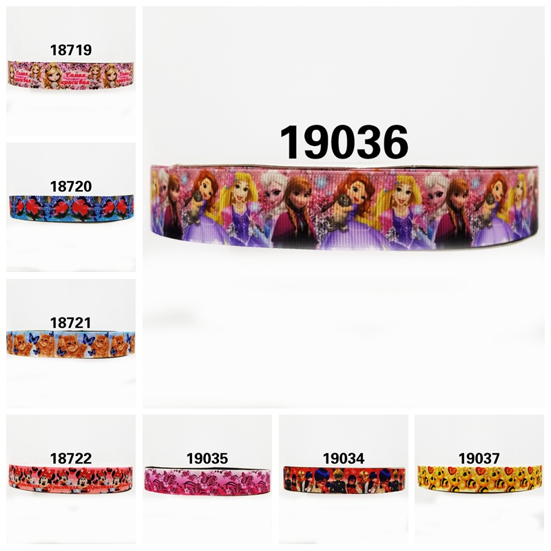 Бесплатная доставка 2018 Новое поступление ленты аксессуары для волос лента 10 ярдов печатные корсажные ленты 19036