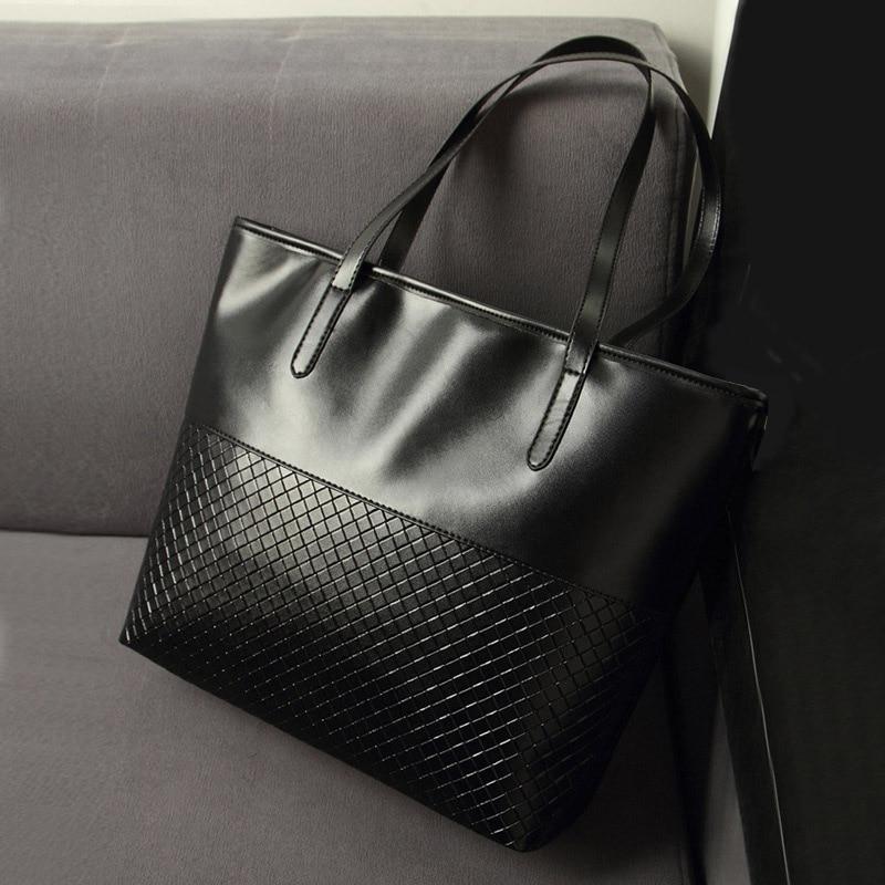 3e63178dbd New Fashion Knitting Black Medium Handbags Ladies Party Purse Wedding  Clutches Women Shoulder Shopping Tote Bags Bolsas Feminina-in Shoulder Bags  from ...